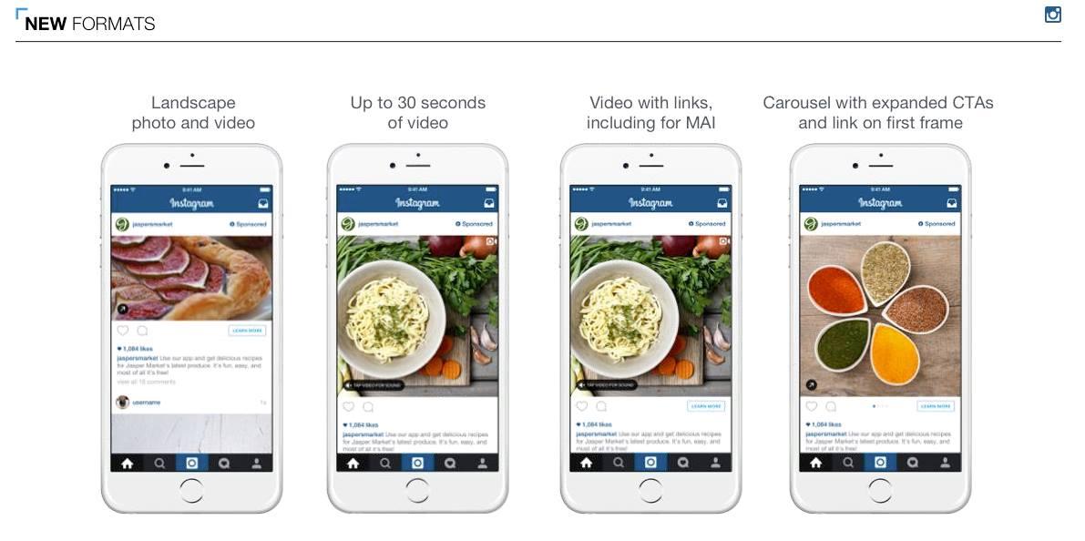 Instagram advertenties formaten