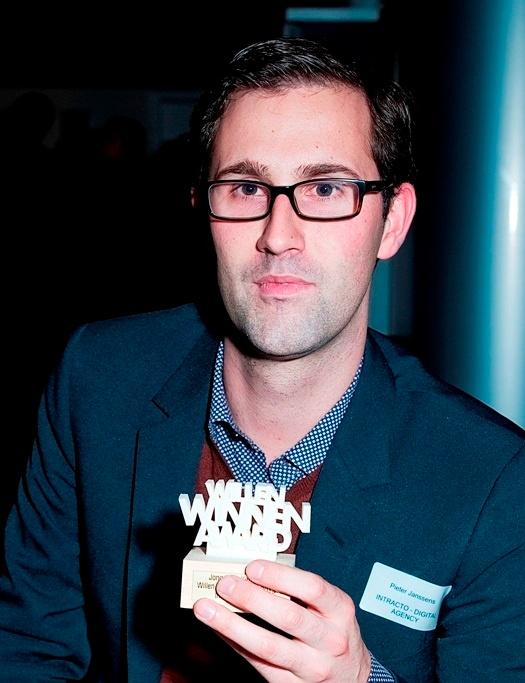 Pieter Janssens met de Willen Winnen Award