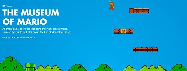 Immersive storytelling met HTML5 over de geschiedenis van Mario.