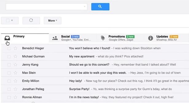 Gmail tabs verdelen de inbox van Gmail in verschillende categorieën.