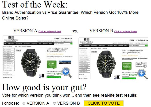 Screenshot website whichtestwon.com