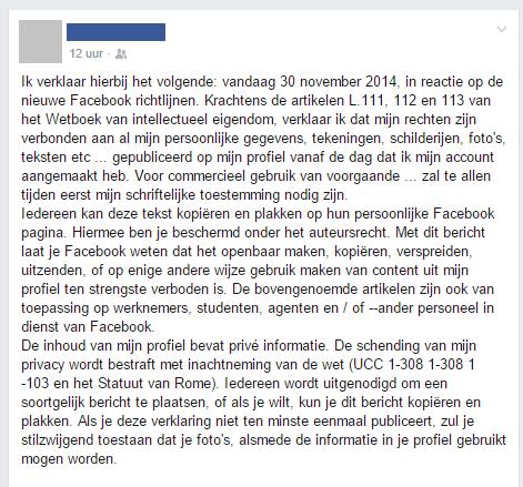 hoax facebook status