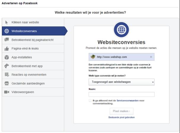 Facebook ads conversie