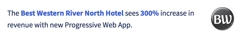 Best Western example PWA